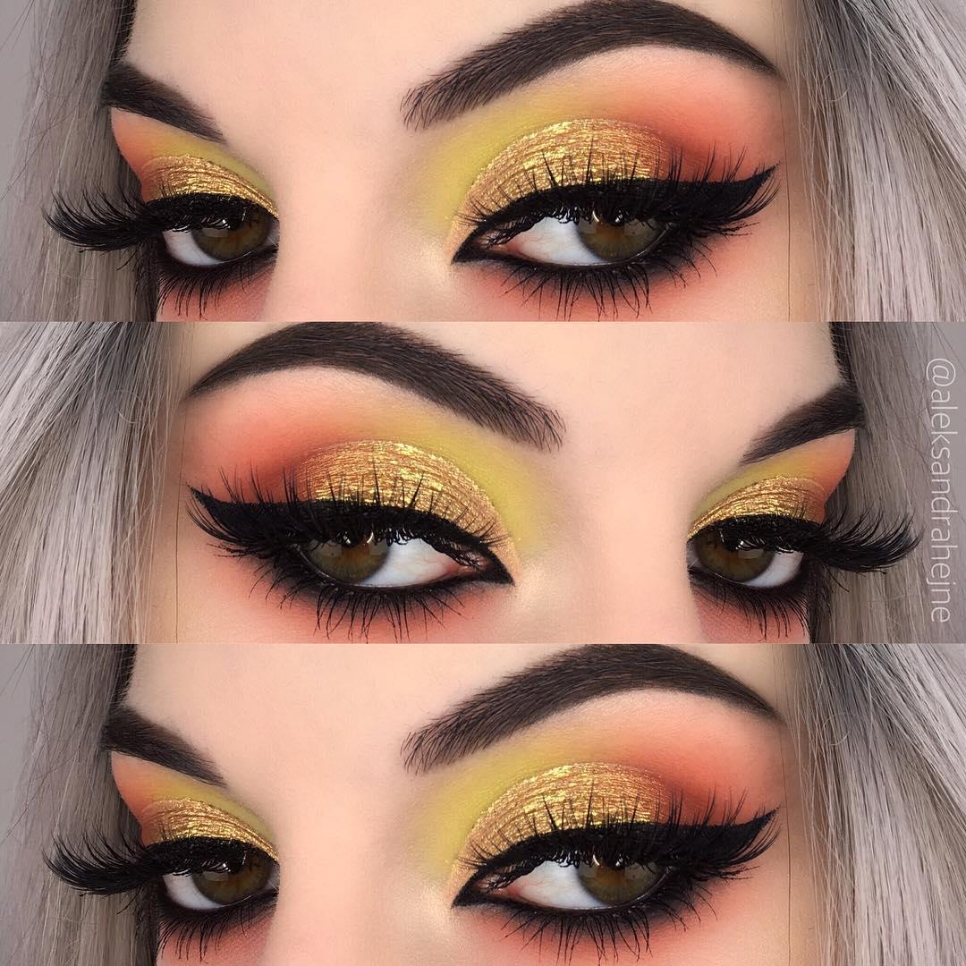 Maquiagem sombra amarela
