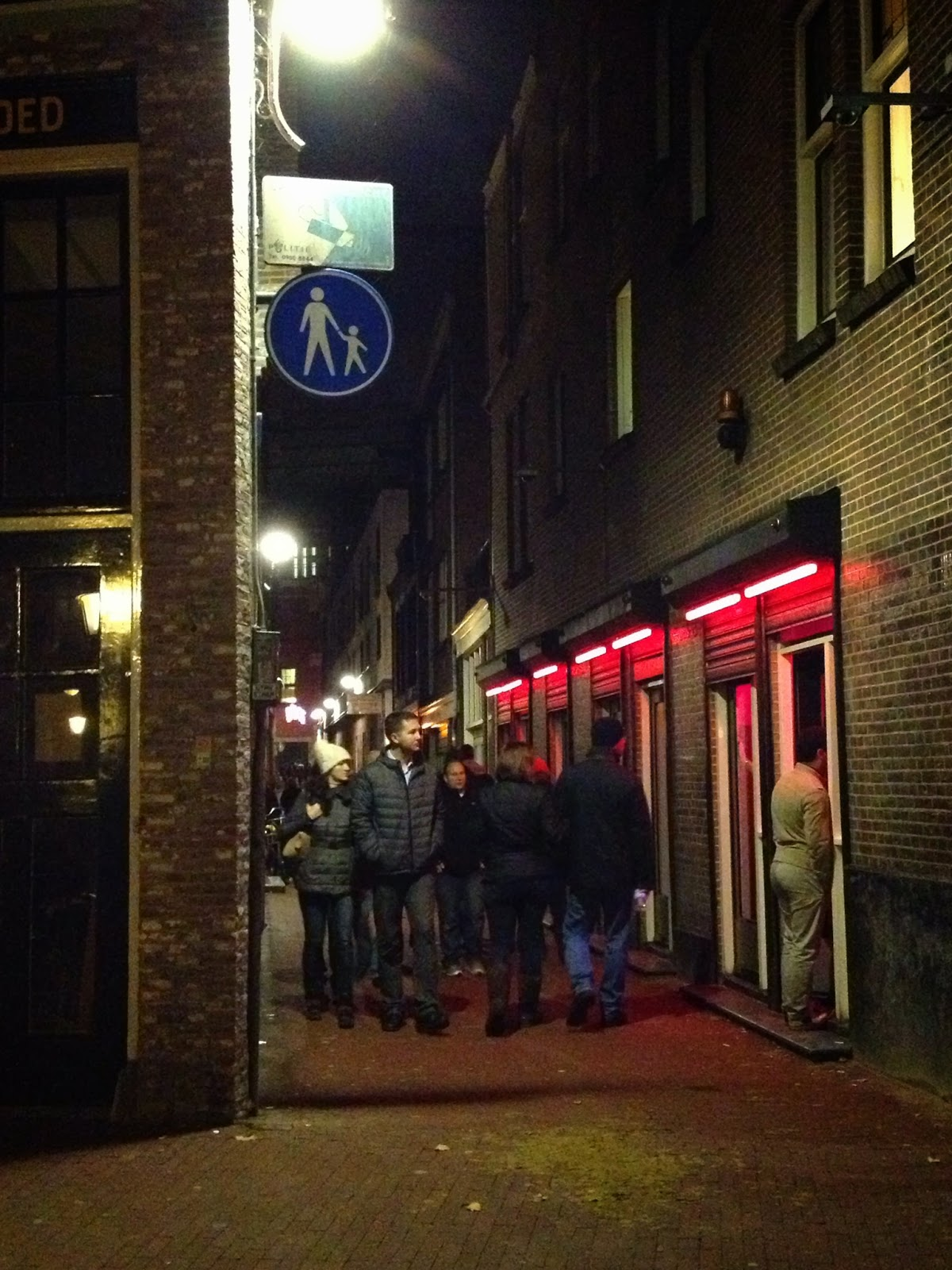 Amsterdam - Watch for small children crossing in the Red Light District