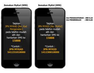 semak status mykad secara SMS