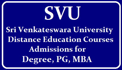 Sri Venkateswara University Distance Education Admission 2019 /2019/09/Sri-Venkateswara-University-offers-Admissions-Distance-Education-UG-PG-Diploma-Courses.html