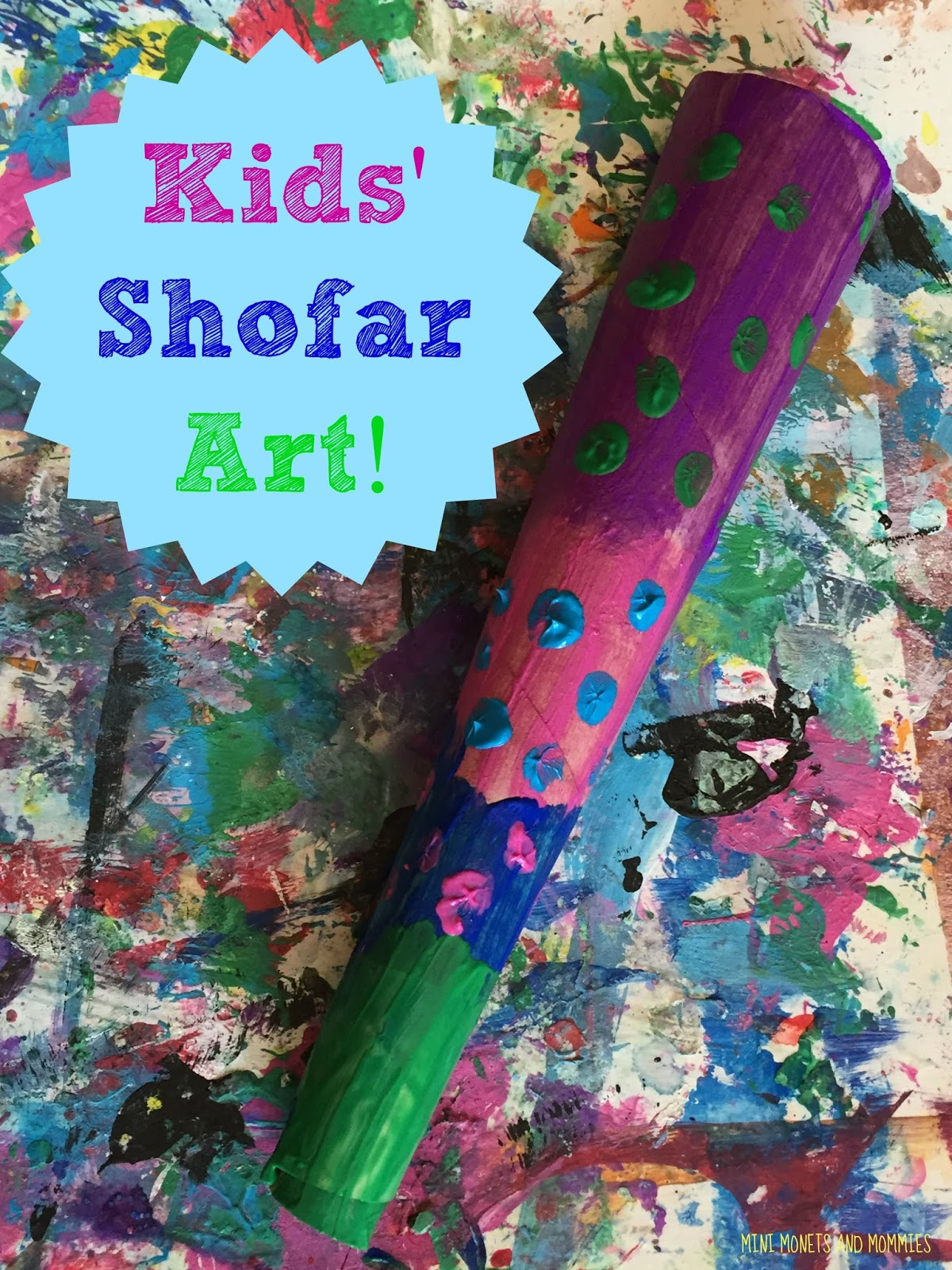 Mini Monets And Mommies Yom Kippur Shofar Kids Craft
