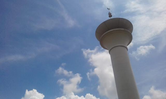 menara Mesjid Al-Abrar, islamic center tabalong tanjung, awan