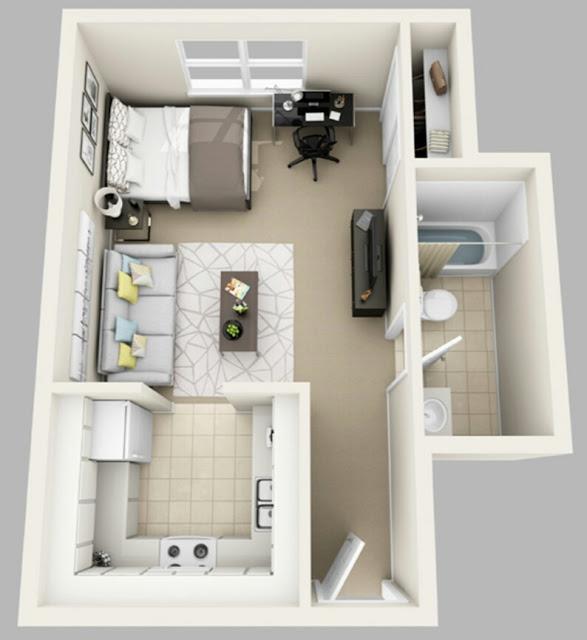 TERBAIK Gambar Denah Rumah Minimalis Sederhana Satu Lantai