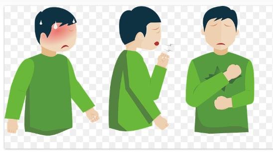 Persona con Ropa Verde con Sintomas de Diabetes