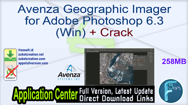 Avenza Geographic Imager for Adobe Photoshop 6.3 (Win) + Crack