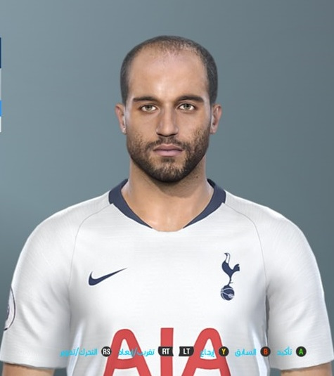 PES 2019 Faces Lucas Moura By Shenawy