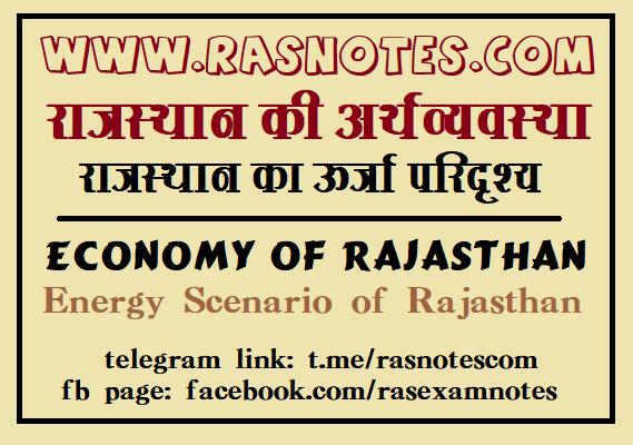 Energy Scenario of Rajasthan in hindi pdf