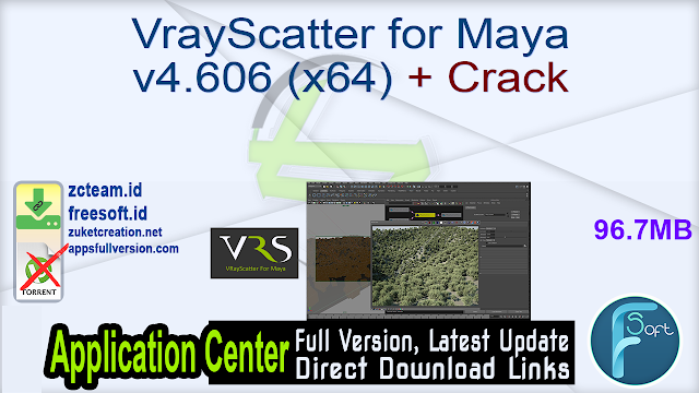 VrayScatter for Maya v4.606 (x64) + Crack_ ZcTeam.id