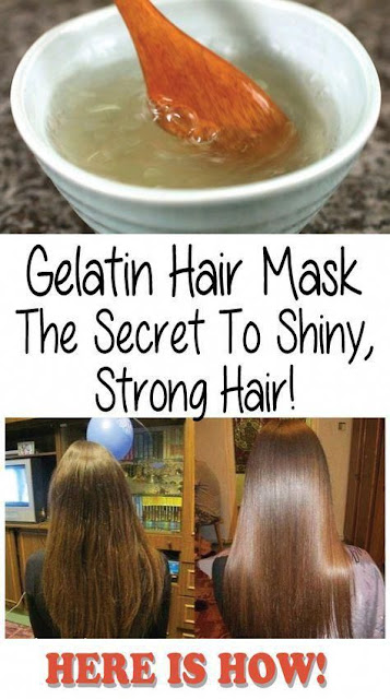 Gelatin Mask. Secret to Shiny and Strong Hair