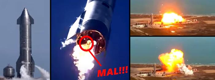SN9 explode e SpaceX acumula 2ª falha da nave Starship