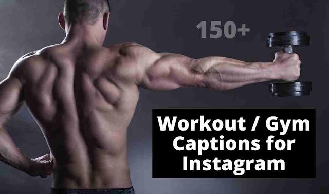 workout gym selfie captions for instagram