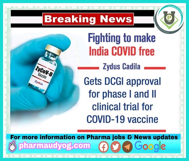 Corona vaccine update | Zydus Cadila gets DCGI nod for human clinical trials | Pharma News
