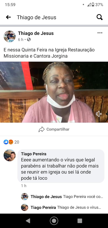 Pré-Candidato a Prefeito Thiago de Jesus convida população para culto e show gospel em meio a Pandemia de Coronavírus