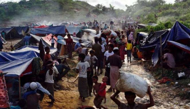 Myanmar Minta Bangladesh Berhenti Bantu Pengungsi Rohingya