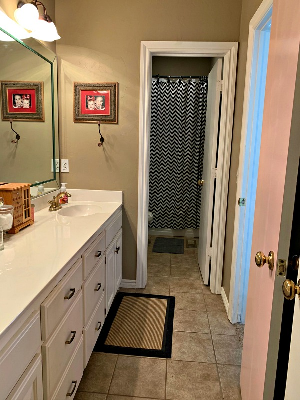 Kids Jack And Jill Bathroom Makeover Before Photos And Design Plan Dimples And Tangles