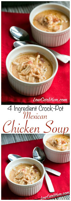 MEXICAN LOW CARB CROCK POT CHICKEN SOUP RECIPE