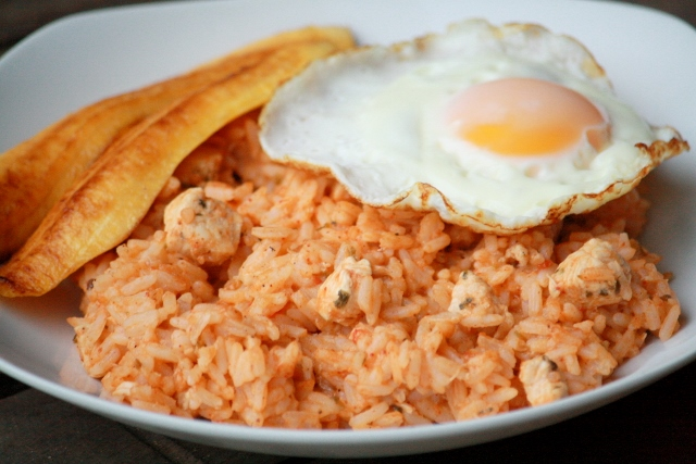 Majadito de pollo (Bolivian chicken and rice)