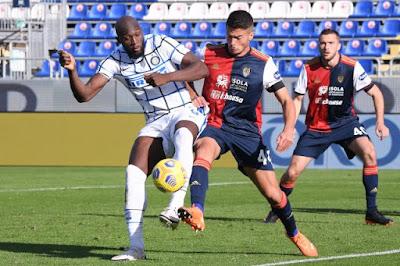 ملخص واهداف مباراة انتر ميلان وكالياري (3-1) الدوري الايطالي