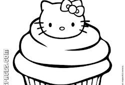 Catatanku Anak Desa Mewarnai Gambar Cupcake