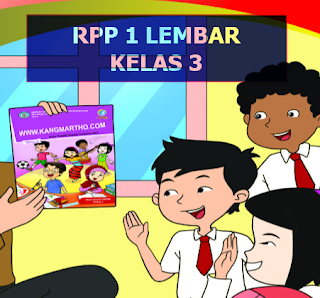 RPP K13 1 Lembar Kelas 3 SD