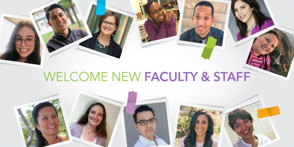 Graphic: Welcome new faculty and staff
