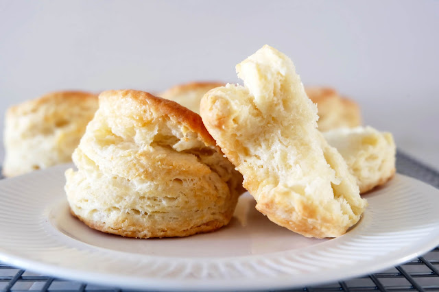 baked Buttermilk Biscuits on plate