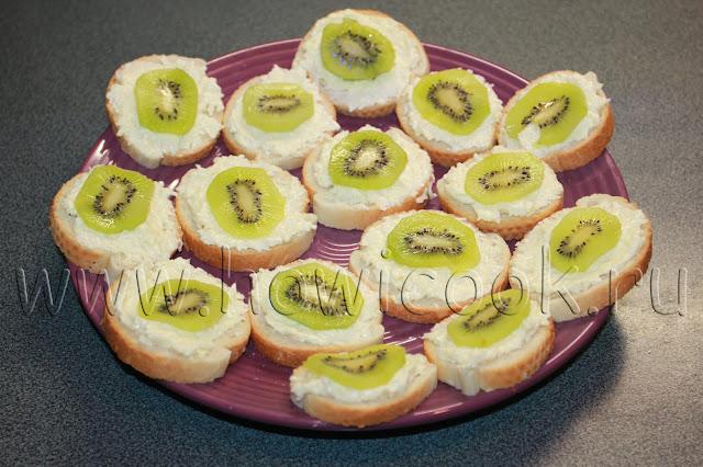 рецепт бутербродов с киви с пошаговыми фото