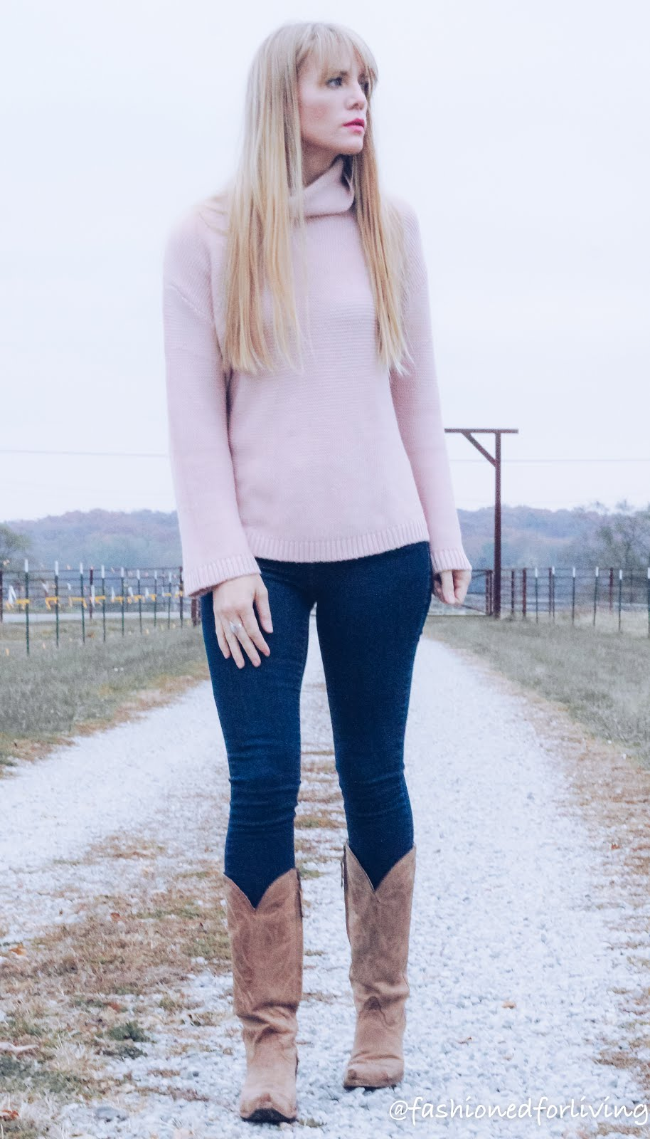 Skinny Cowboy Sweater LivingBlush And With Jeans For Fashioned Boots k0PXw8NnO