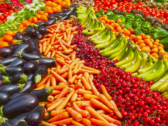 Abundance Agriculture Bananas Carrots Vegetables Supermarket Stock HD Wallpapers