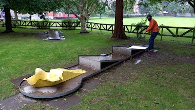 Crazy Golf at Cae Glas Park in Oswestry