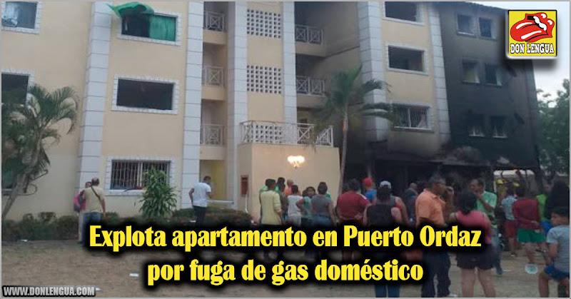 Explota apartamento en Puerto Ordaz por fuga de gas doméstico