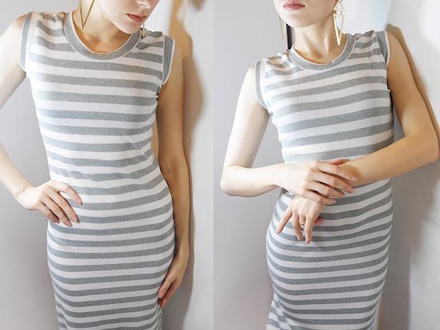 maxi long bodycon striped dress rosegal rosegal wholesale review breygel blogger