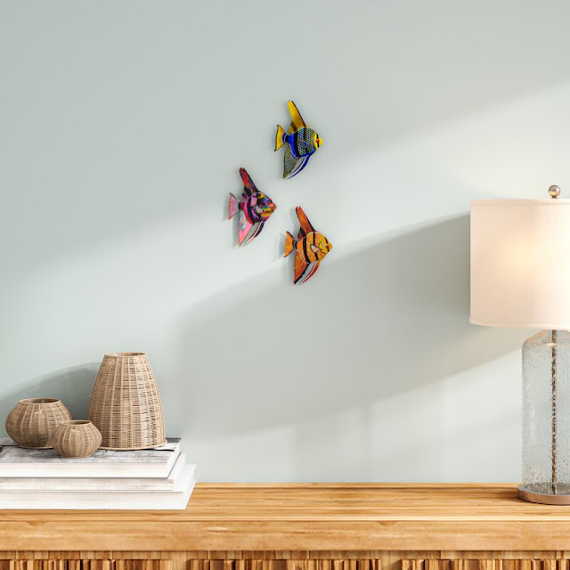3 Piece Tetra Fish Wall Decor Set