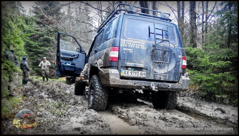 УАЗ Патриот в Карпатских горах