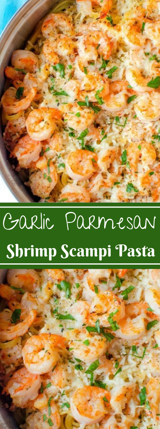 Garlic Parmesan Shrimp Scampi Pasta #vegetable #parmesan #shrimp #pasta #cauliflower
