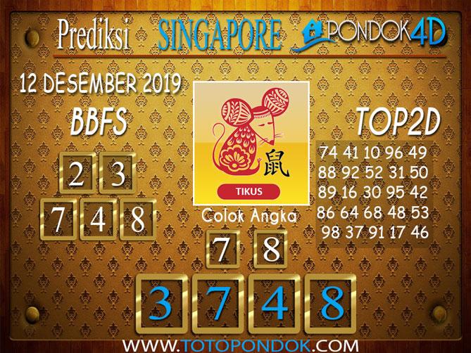 Prediksi Togel SINGAPORE PONDOK4D 12 DESEMBER 2019
