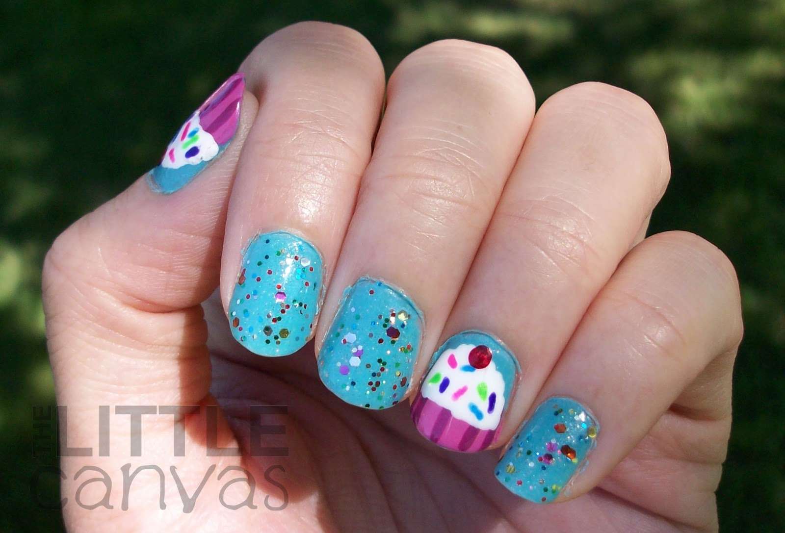 Birthday Cupcake Nail Art! - The Little Canvas