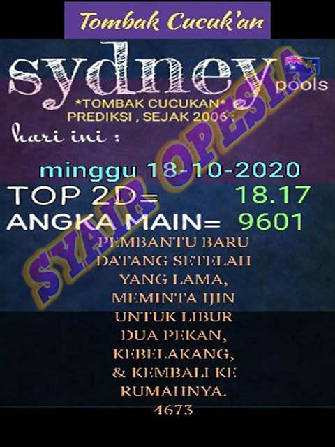 Kode syair Sydney Minggu 18 Oktober 2020 27