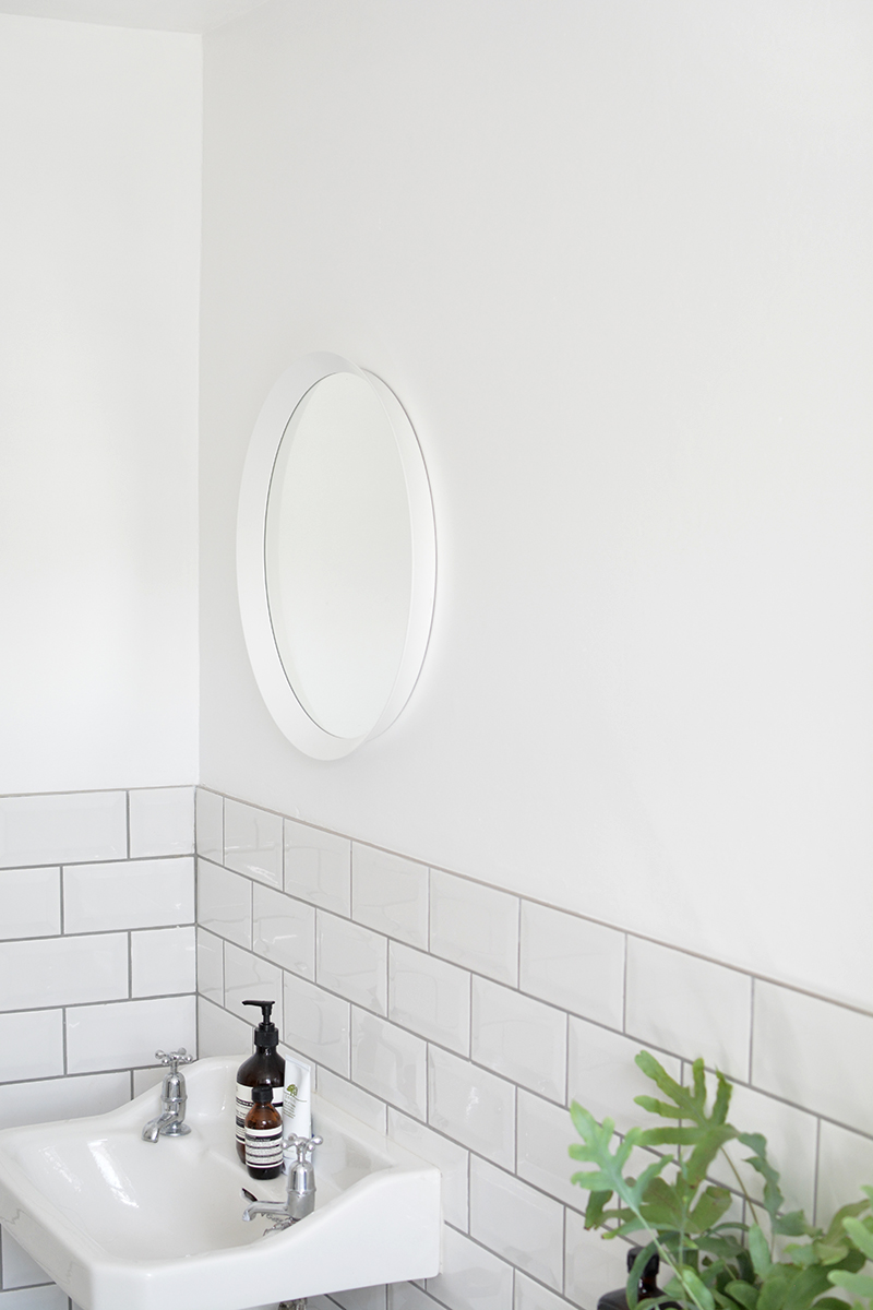 subway tile splashback, bathroom ideas