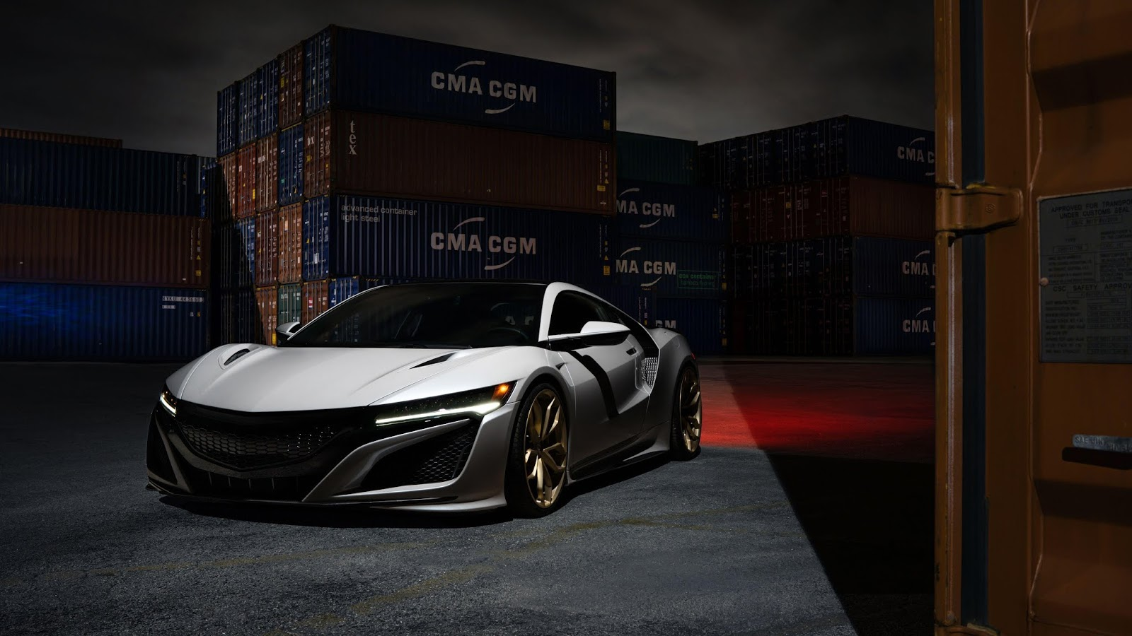 2017 Acura NSX HRE Wheels 5K Wallpapers car wallpapers hd