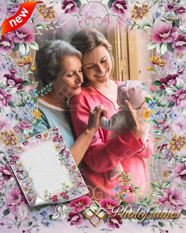 Marco para colocar fotos de tu abuela o tu mamá en el día de las madres