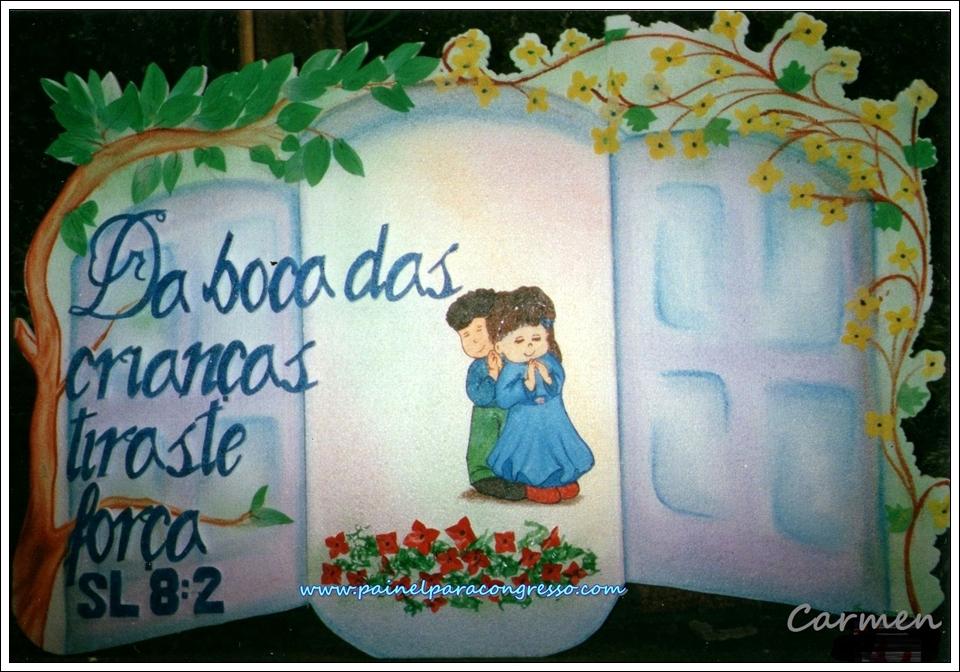 desenho de crianças orando