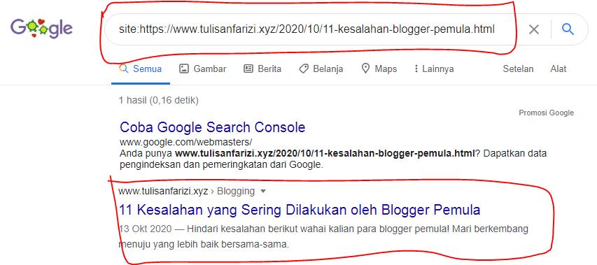 cara cepat blog terindeks di google