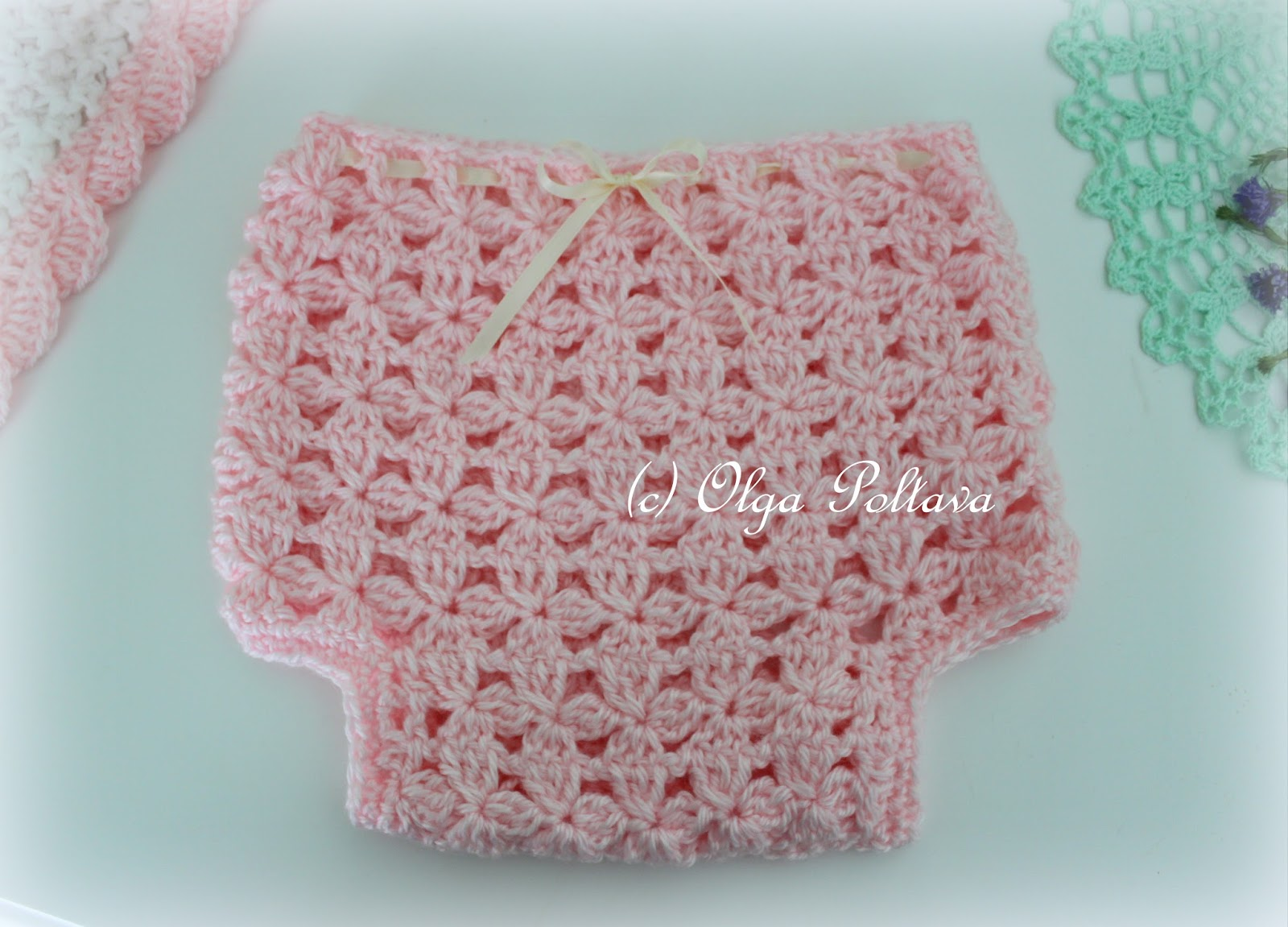 Lacy Crochet: Flower Clusters Diaper Cover