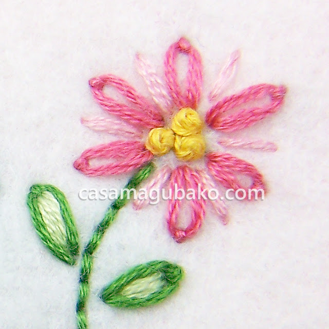 Embroidered Flower by casamagubako.com