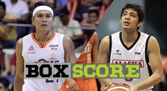 Box Score List: Alaska vs Meralco Game 3 2018 PBA Governors' Cup