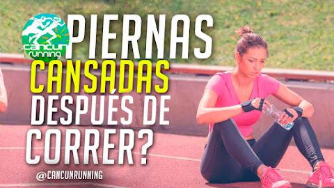 piernas cansadas después de correr