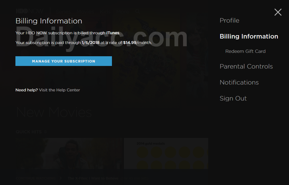 [Free HBO NOW Premium] x110 Hbonow.com Premium Accounts December 8, 2017