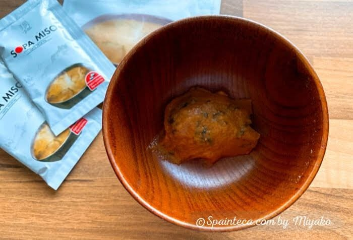 メルカドナのお味噌汁のお味噌の様子