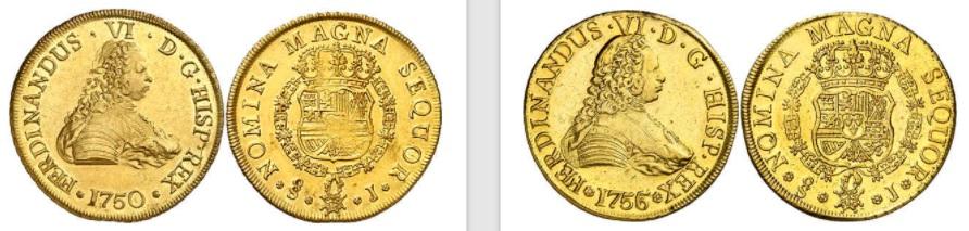8 Escudos. Santiago 1751. Fernando VI Fvis